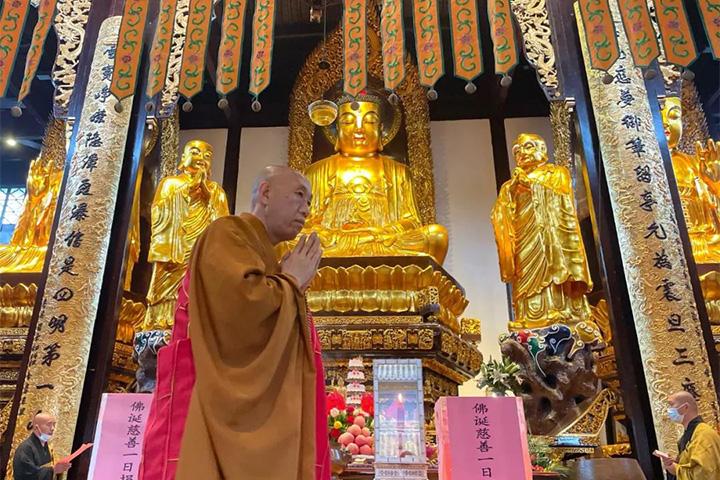 四月初八 雪窦山各寺举行多种法会恭迎佛诞日